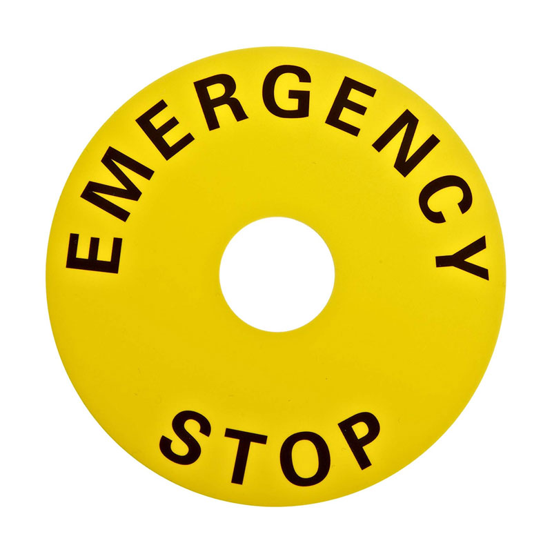 EMERGENCY PLAT 90MM