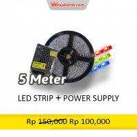 LED STRIP 5 Meter + Power...