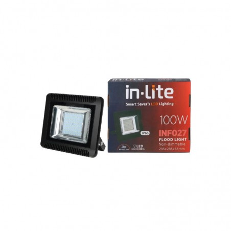 LAMPU LED FLOOD LIGHT 100W WW